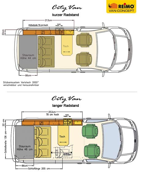 Reimo T6 City Van Conversion Blueprints
